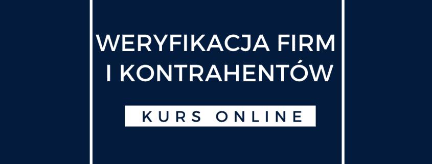 Weryfikacja Firm Kurs online